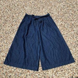 American Eagle AEO Denim Chambray Culottes Pants